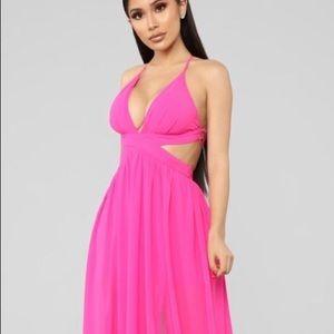Fashion Nova Shore Walk cut out maxi dress NWT